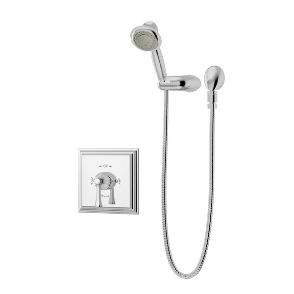 Canterbury Thermostatic Handheld and Fixed Shower Faucet with Lever Handle by Symmons