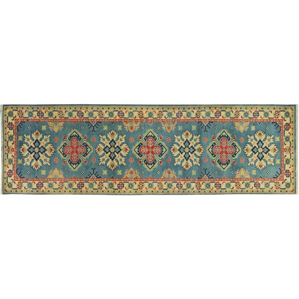 One-of-a-Kind Finnell Hand-Knotted Wool Light Blue/Ivory Area Rug by Darby Home Co