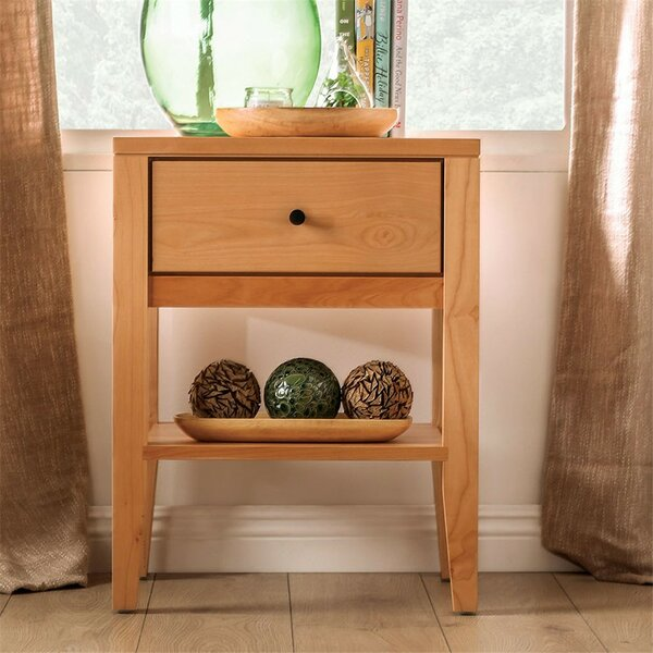 Bussiere 1 Drawer Nightstand by Foundry Select