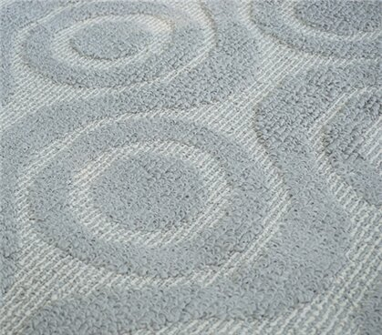 Vogan Bullseye Gray Area Rug by George Oliver