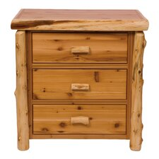 Value Cedar 3 Drawer Chest by Fireside Lodge