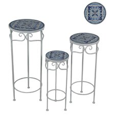 Soledad 3 Piece Tile Plant Stand Set by Rosecliff Heights