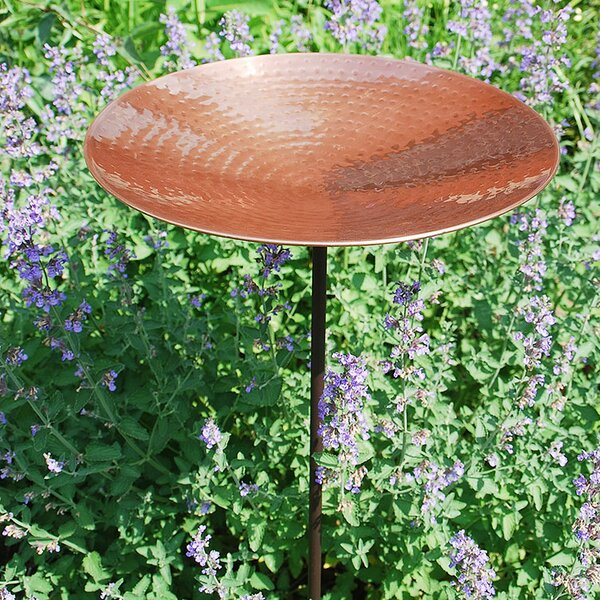 Polished Copper Birdbath by ACHLA