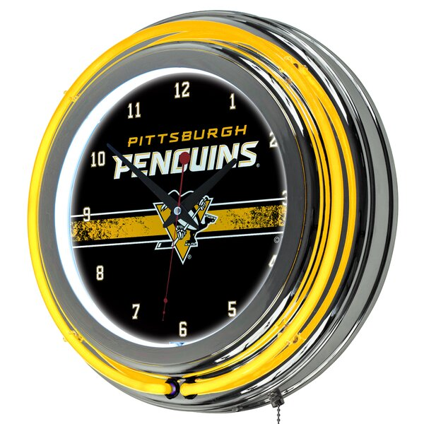 Nhl Neon 14.5 Wall Clock By Trademark Global.