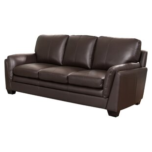 Whitstran Leather Sofa Darby Home Co