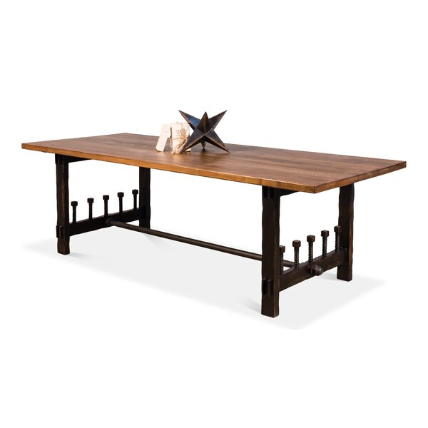 Wood Screw Dining Table by Sarreid Ltd