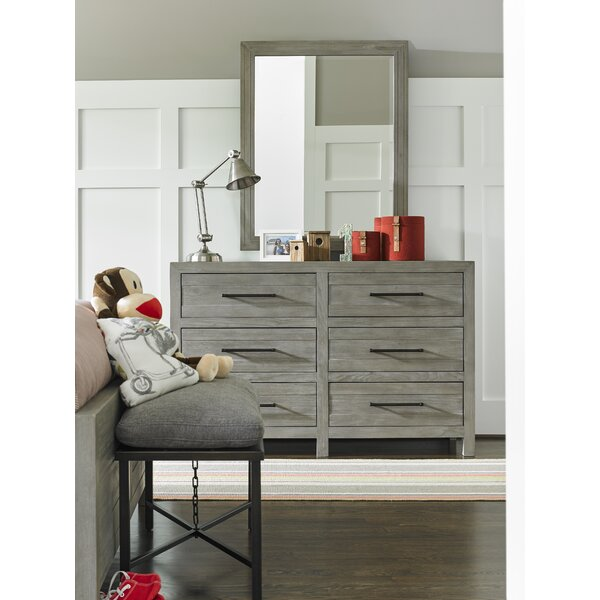 Goshen 6 Drawer Double Dresser With Mirror by Greyleigh