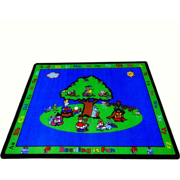 Blue Fun Learning Reading is Fun Area Rug by Kids World Carpets
