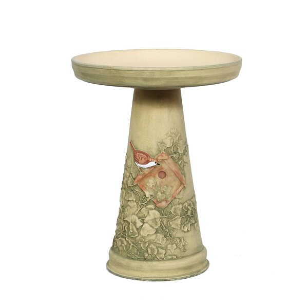 Burley Clay Nesting Wren Birdbath by Birds Choice
