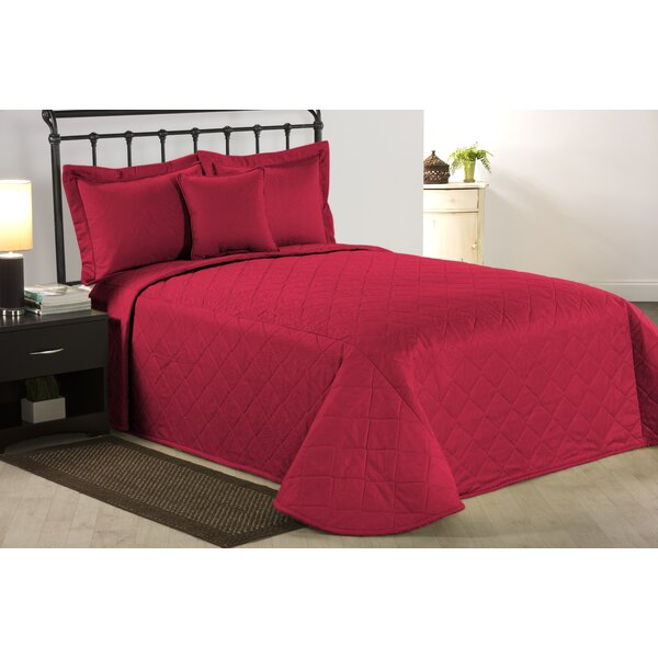 Bechtold Solid Red Single Coverlet/Bedspread