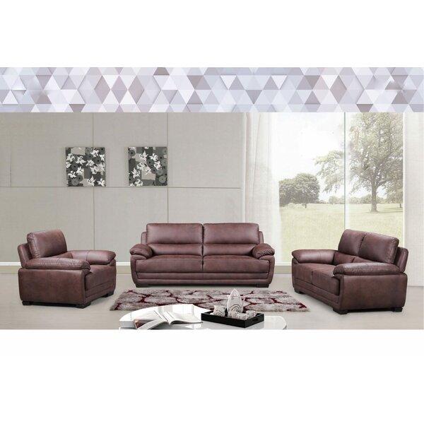 Django 3 Piece Living Room Set by Wrought Studio