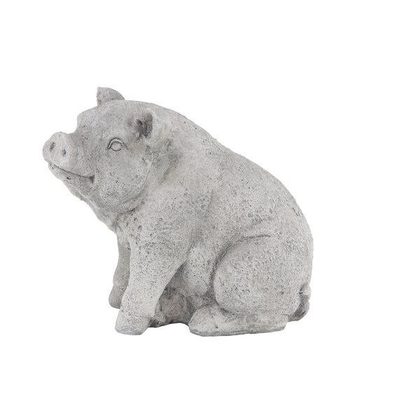 Stoneburner Traditional Pig Resin Figurine by August Grove
