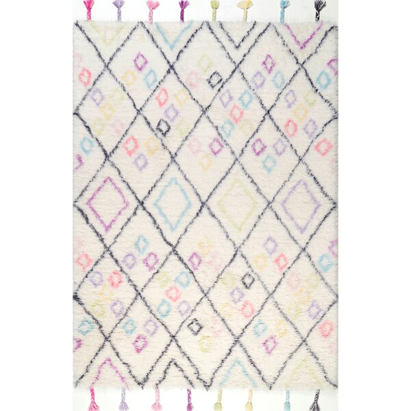 Haines Hand-Woven Wool Off-White Area Rug by Harriet Bee
