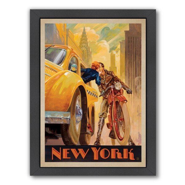 New York Minute Framed Vintage Advertisement by East Urban Home