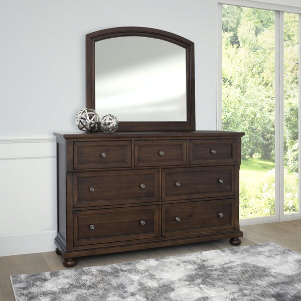 Chilmark 7 Drawer Double Dresser with Mirror by Darby Home Co