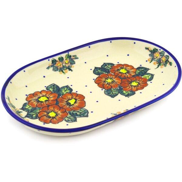 Polish Pottery 13 Oval Platter by Polmedia