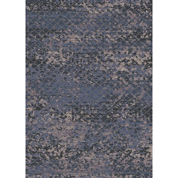 Palmview Moroccan Modern Blue/Beige Area Rug by Bungalow Rose