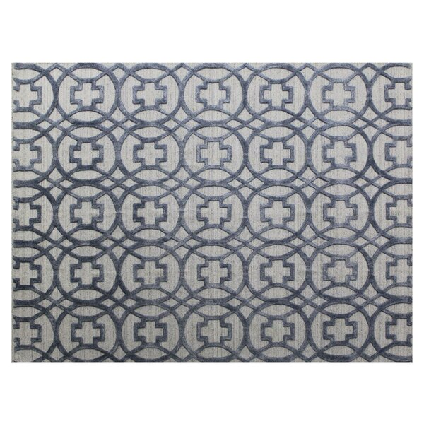 Windsor Hand-Woven Wool Blue/Gray Area Rug by Exquisite Rugs