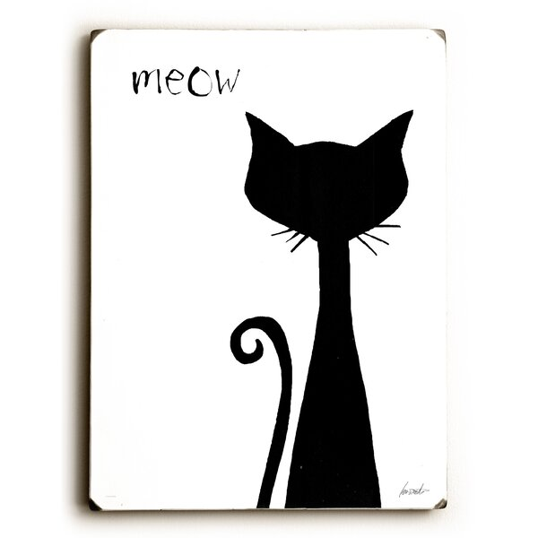 Meow Print of Painting by Artehouse LLC