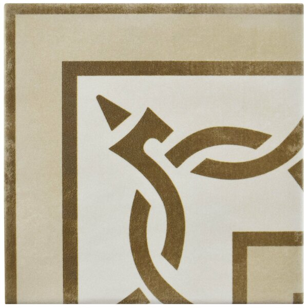Haute 5.88 x 5.88 Ceramic Field Tile in Brown/Beige by EliteTile