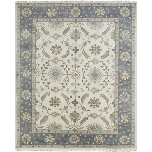 Irma Hand Knotted Wool Ivory Area Rug by Darby Home Co