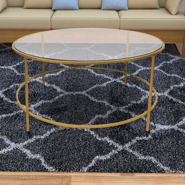 Ducharme Round Metal Framed Coffee Table With Tray Top By Mercer41