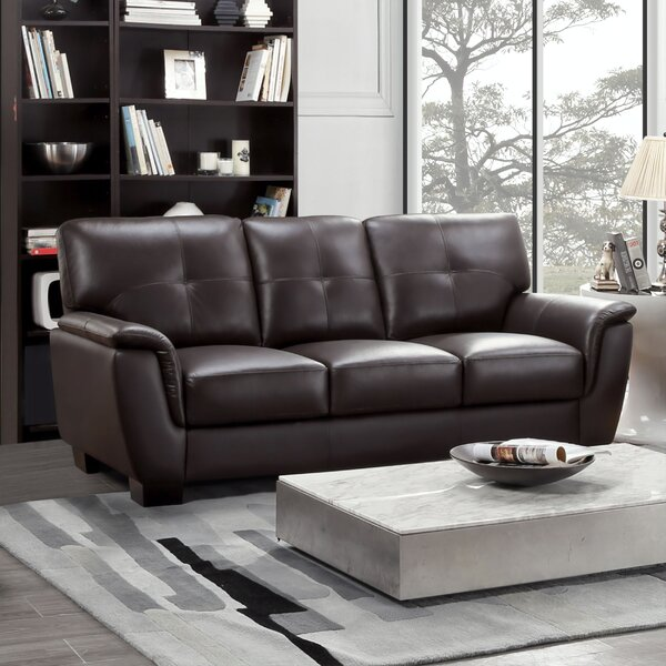 Discover Outstanding Designer Curran Leather Sofa by Darby Home Co by Darby Home Co