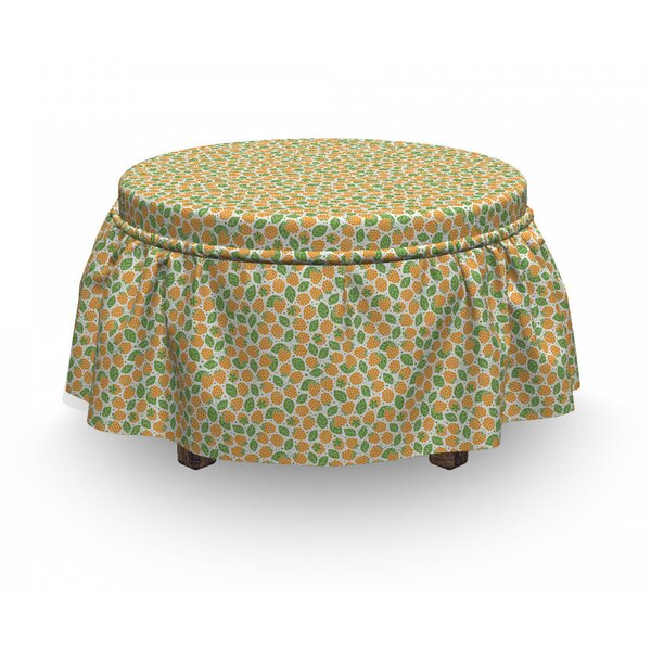 Juicy Fresh Food Ottoman Slipcover (Set Of 2) By East Urban Home
