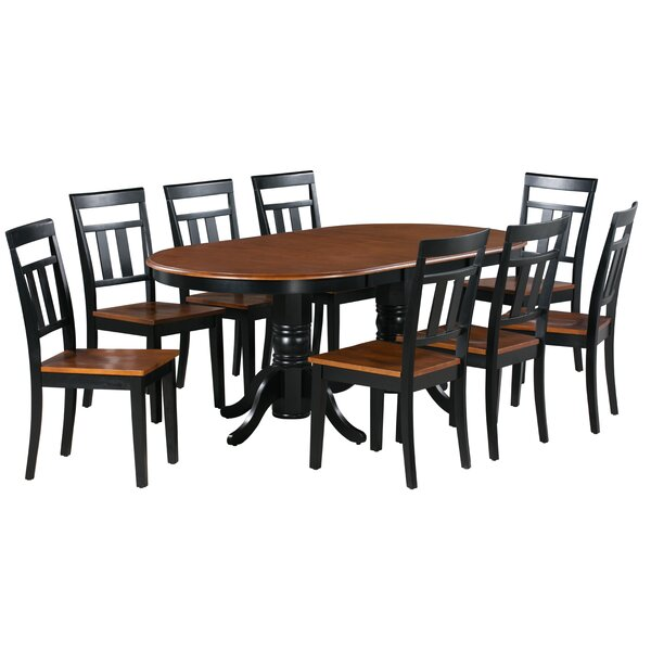 Elvis 9 Piece Extendable Solid Wood Dining Set by Alcott Hill