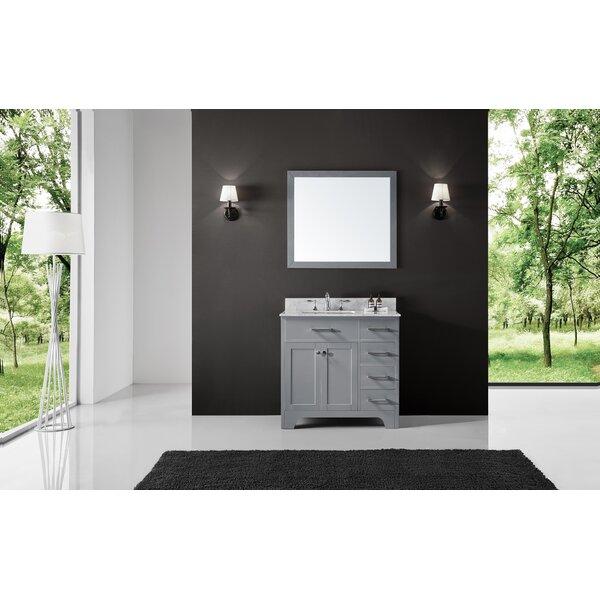 Cassel 36 Single Bathroom Vanity Set with Mirror