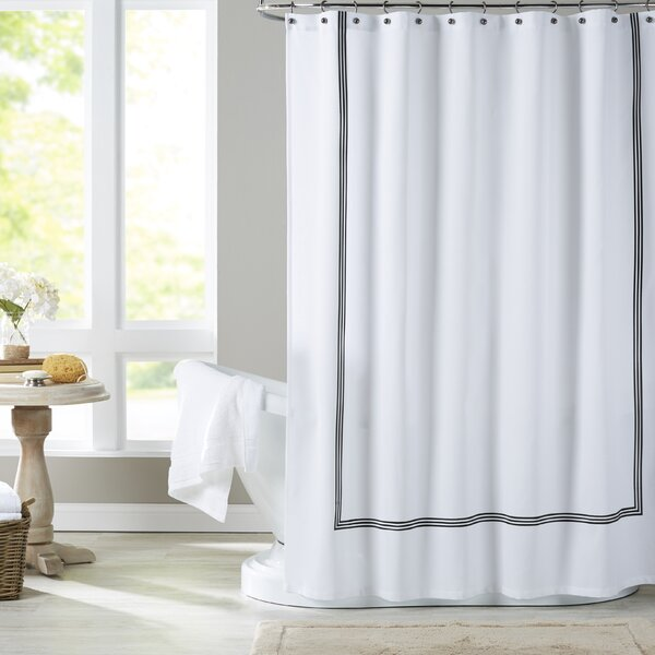 Althea Cotton Blend Shower Curtain by Eider & Ivory