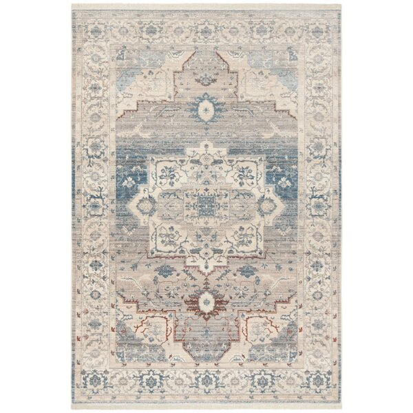 Volkman Vintage Persian Gray/Blue Area Rug by Ophelia & Co.