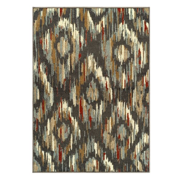 Michie Superior Gray/Red Area Rug by Bloomsbury Market