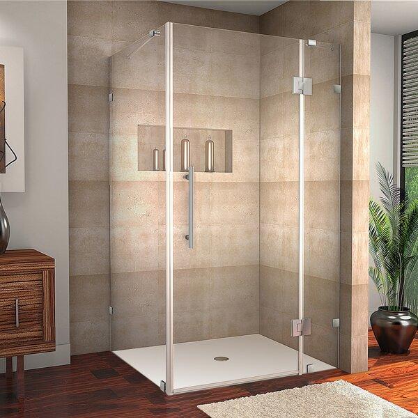 Avalux 40 x 72 Hinged Frameless Shower Door by Aston