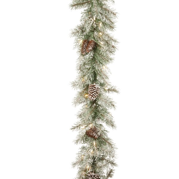 Frosted Mountain Spruce Garland by The Holiday Aisle