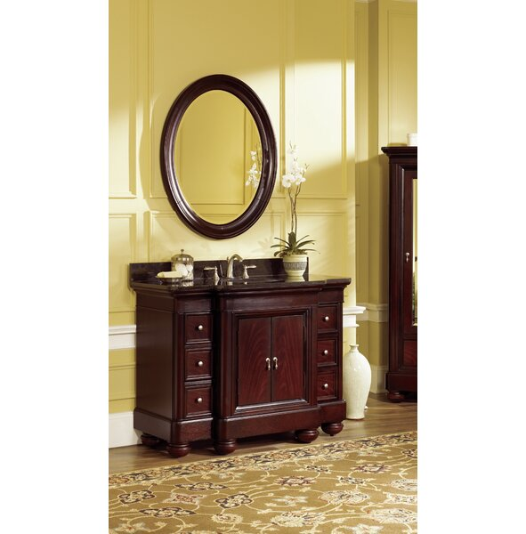 Sereno 48 Single Bathroom Vanity Set with Mirror by World Menagerie