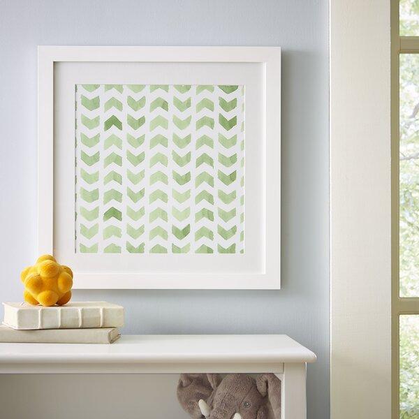Chevron Repeat Pattern Framed Print by Birch Lane Kids™
