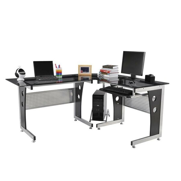 Modern L-Shaped Computer Desk by HomCom
