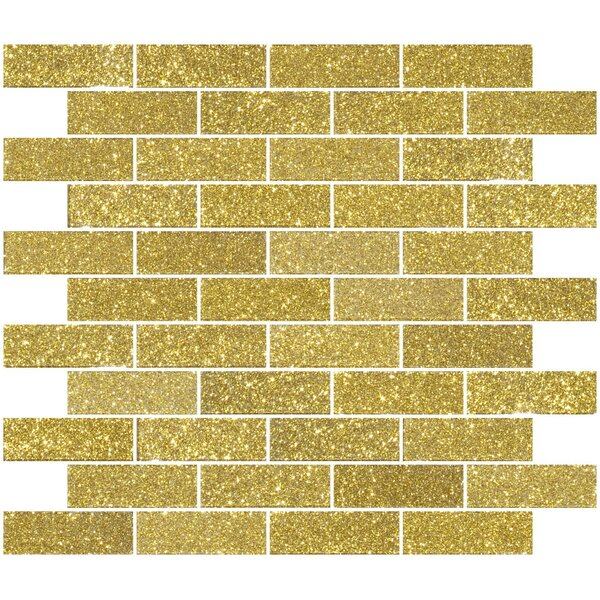 1 x 3 Glass Subway Tile in Dark Gold by Susan Jablon