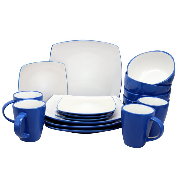 Soho Lounge 16 Piece Dinnerware Set, Service for 4 by Coca Cola