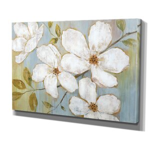 White Blossoms by Nan Photographic Print on Wrapped Canvas by Wexford Home