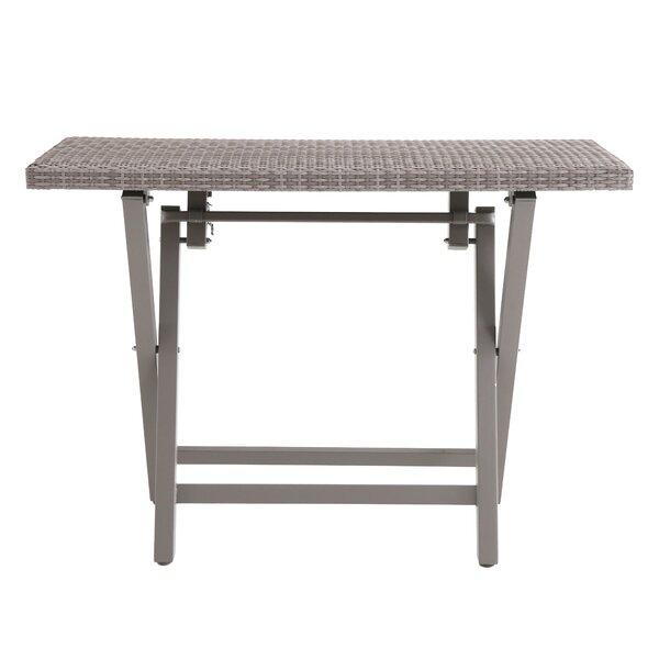 Speck Folding Resin Wicker Buffett Table by Ebern
