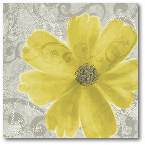 'Flower Poppy' Graphic Art on Wrapped Canvas by Andover Mills