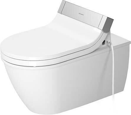 Darling New Dual-Flush Elongated Wall Mounted Toilet (Seat Not Included) by Duravit