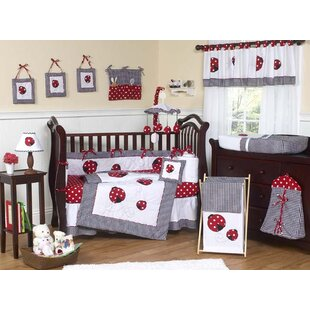 Find a Little Ladybug 9 Piece Crib Bedding Set By Sweet Jojo Designs