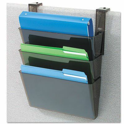 DocuPocket Three-Pocket Partition Set, Plastic, Letter, 13w x 4d x 7h, Black by Deflect-O Corporation