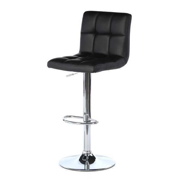 Full Back Adjustable Height Swivel Bar Stool by Zipcode Design