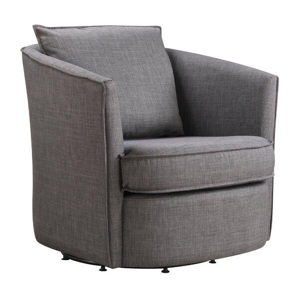 Truman Opal Swivel 22.05-inch Armchair by Ivy Bronx Ivy Bronx