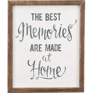 'The Best Memories' by Glory Haus Framed Textual Art by Glory Haus
