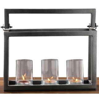 Hampton Iron / Glass Candelabra by Fashion N You by Horizon Interseas